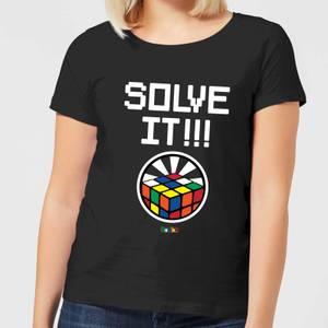 Solve It!!! Cube Glow Women's T-Shirt - Black