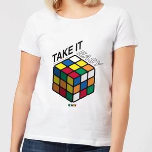 Take It Easy Rubik's Cube Women's T-Shirt - White