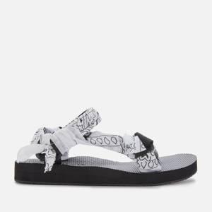 Arizona Love Women's Trekky Bandana Sandals - White