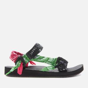 Arizona Love Women's Trekky Bandana Sandals - Mix Black