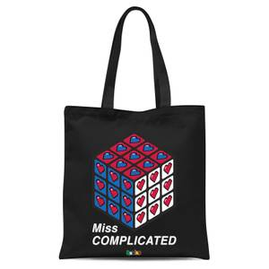 Miss Complicated Love Cube Tote Bag - Black