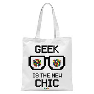 Geek Cube Is The New Chic Tote Bag - White