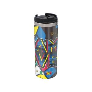 Game Over Shattered Rubik's Cube Stainless Steel Thermo Travel Mug - Metallic Finish