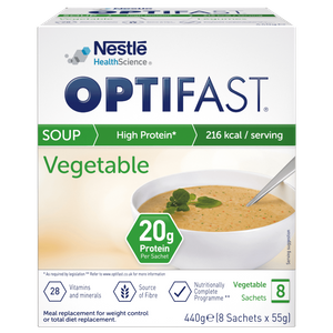 OPTIFAST Soup - Vegetable - Box of 8