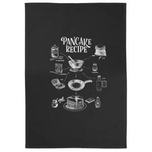 Pancake Recipe Cotton Black Tea Towel