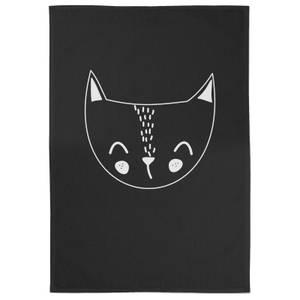 Cat Cotton Black Tea Towel