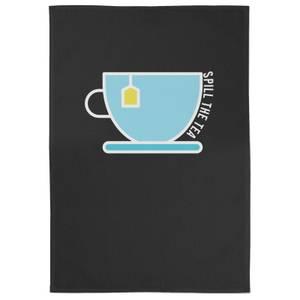 Spill The Tea Cotton Black Tea Towel