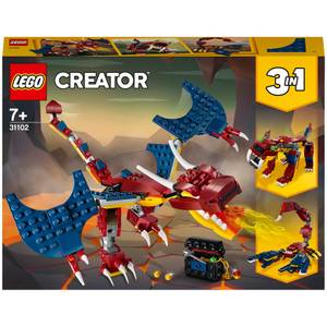 LEGO Creator: 3in1 Fire Dragon Construction Set (31102)