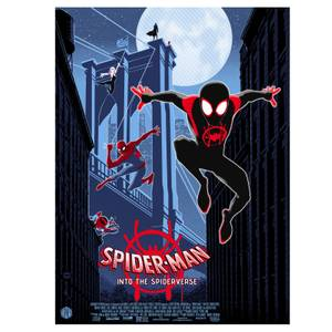 Marvel Into The Spider-Verse Lithograph Print by Brian Miller