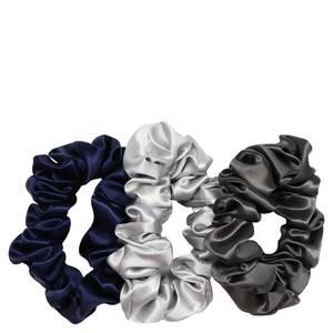Slip Silk Large Scrunchies - Midnight