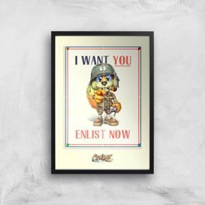 Conker I Want You Giclee Art Print