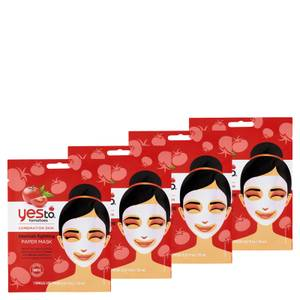 yes to Tomatoes Blemishing Fighting Paper Single Use Mask (Pack of 4)