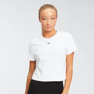 Camiseta corta Essentials para mujer de MP - Blanco