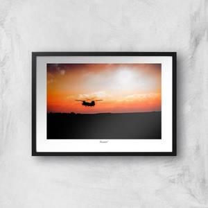 Farnborough Skyline Giclée Art Print
