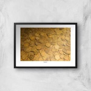 Gold Coins Giclée Art Print