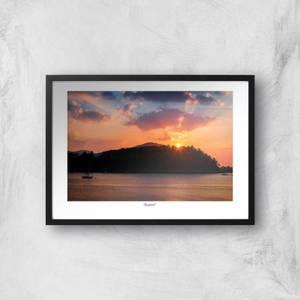 Conwy River Sunset Giclée Art Print