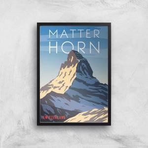 Visit... Matterhorn Giclée Art Print