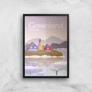 Visit... Greenland Giclée Art Print