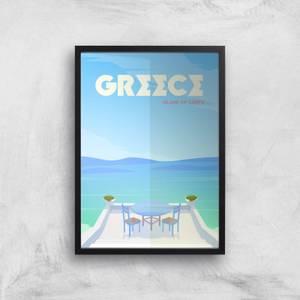Visit... Greece Giclée Art Print