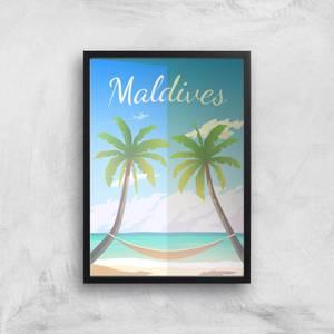 Visit... Maldives Giclée Art Print