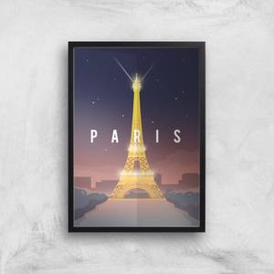 Visit... Paris Giclée Art Print