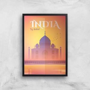 Visit... India Giclée Art Print