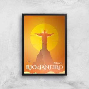 Visit... Rio De Janiero Giclée Art Print
