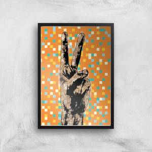 Pop Pixel Peace Sign Giclée Art Print