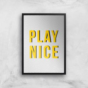 Play Nice Giclée Art Print