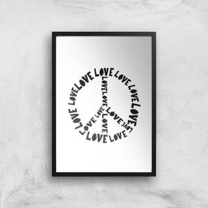 Love And Peace Giclée Art Print