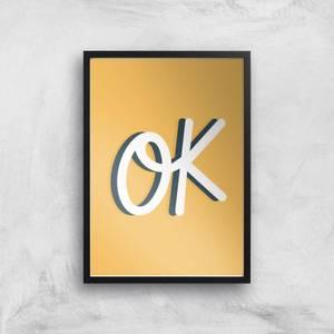 Ok Giclée Art Print