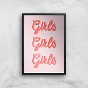 Girls Girls Girls Giclée Art Print