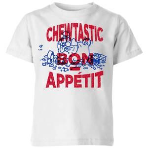 Simons Cat Chewtastic Bon Appetit Kids' T-Shirt - White