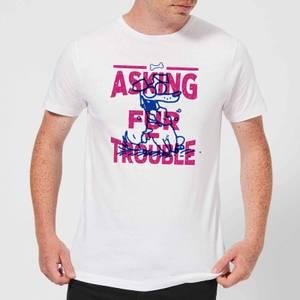 Simons Cat Asking Fur Trouble Men's T-Shirt - White