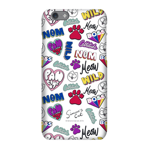 Simons Cat Bold Phrase Phone Case for iPhone and Android