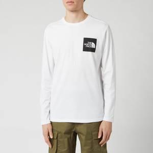 The North Face Men's Long Sleeve Fine T-Shirt - TNF White