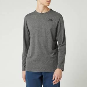 The North Face Men's Long Sleeve Red Box T-Shirt - Medium Grey Heather