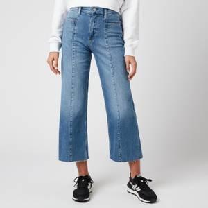 Calvin Klein Jeans Women's Seamed Wide Leg Jeans - Mid Blue