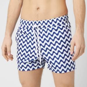 Frescobol Carioca Men's Copacabanana Sports Swim Shorts - Navy Blue