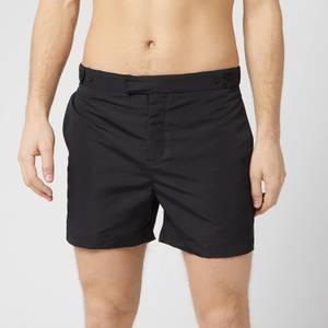 Frescobol Carioca Men's Tailored Short Block Swim Shorts - Black
