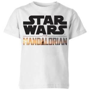 The Mandalorian Mandalorian Title Kids' T-Shirt - White