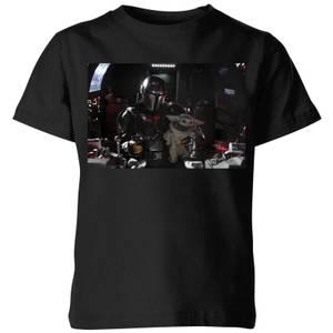 The Mandalorian Pilot And Co Pilot Kids' T-Shirt - Black