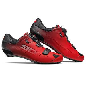 Sidi Sixty Road Shoes - Black/Red
