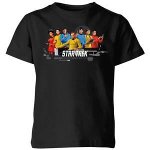 USS Enterprise Crew Star Trek Kids' T-Shirt - Black