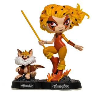 Figura Cheetara & Snarf Thundercats 13 cm - Iron Studios Mini Co.