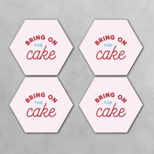 Bring On The Cake Hexagonal Coaster Set