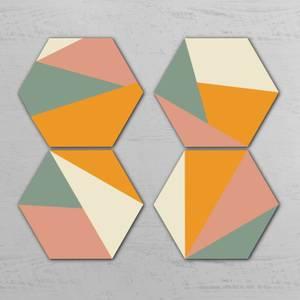 Triangles Hexagonal Coaster Set