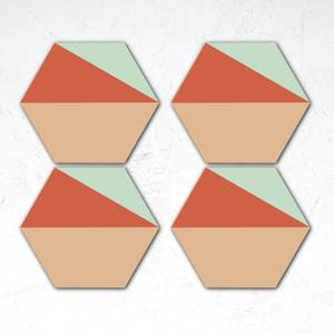 Geometric Shapes Hexagonal Coaster Set