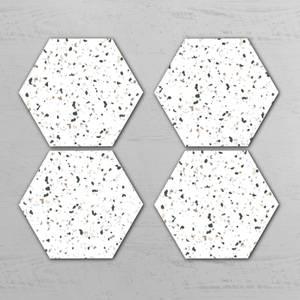 Terrazzo Hexagonal Coaster Set