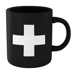 The Motivated Type Swiss Cross Mug - Black